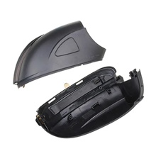 2Pcs Car Water Flowing Turn Signal Lights LED Lamp Side Wing Rearview Mirror for VW Golf 6 Touran Black