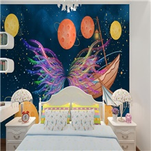 Home Decoration Custom self-adhesive mural wallpaper abstract butterfly children cartoon style suitable for bedroom children's room 28' x 55' (70cm x 140cm) ( US $11.21) ,Self adhesive ( US $5.09)