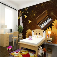 Art Deco Custom Self Adhesive Mural Ghost Festival Pumpkin Catching Star Rabbit Children Cartoon Style Suitable For Bedroom 28' x 55' (70cm x 140cm) ( US $11.21) ,Self adhesive ( US $5.09)