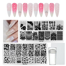 1*4 pcs Stamper & Scraper Stamping Plate Template Animal Series / Flower Series Multi-Design / Recyclable nail art Manicure Pedicure Fashion Daily