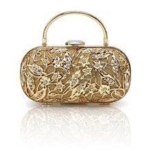 Women's / Girls' Bags Alloy Evening Bag Crystals for Event / Party / Birthday Gold / Wedding Bags Gold