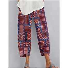 Women's Basic Chinos Pants - Print Quick Dry Blue Red Gray S / M / L Blue,S