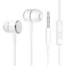 X10 Mobile Phone Silicone Wire-Controlled In-Ear Headphones Hd Stereo Support a Variety Of Smart Devices White