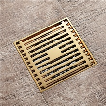 Faucet accessory - Superior Quality Floor Drain Contemporary Brass Electroplated Gold