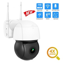 DIDSeth 3MP Wifi IP Camera PTZ 4X Digital Zoom Auto Tracking ONVIF Security CCTV Camera Audio AI Human Detection Outdoor Cam EU Adapter,None,3.0MP,White / Black