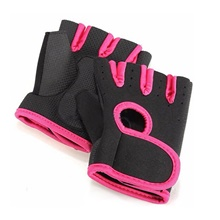 Workout Gloves Weight Lifting Gloves 2 pcs Sports Mixed Material Yoga Fitness Exercise & Fitness Built-In Wrist Wraps Strength Training Foam Pad Breathable Weight Loss Grip Strength Trainer For Men Dark Pink,M