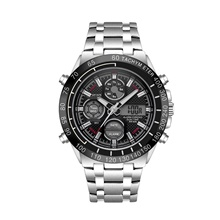 DIOUCE Men's Digital Watch Quartz Modern Style Sporty Casual Water Resistant / Waterproof Stainless Steel Analog - Black / Silver Black+Gloden Red+Silver Black / Silver