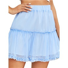 Women's Daily Wear A Line Skirts - Solid Colored Light Blue S M L Light Blue,S