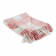 camz11470  buffalo check woven throw 80*160,Pink