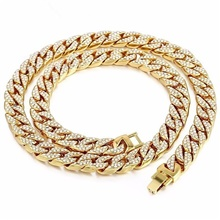 Men's Gold Crystal Long Necklace Dollars Punk Alloy Gold 45 cm Necklace Jewelry For Street Gold