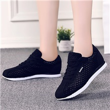 Women's Trainers / Athletic Shoes Spring Summer Flat Heel Round Toe Casual Sweet Minimalism Daily Outdoor Solid Colored Mesh Running Shoes Walking Shoes Black / Pink / Gray Black,US5.5 / EU36 / UK3.5 / CN35