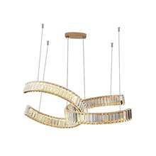 QIHengZhaoMing 2-Light 80 cm Unique Design Chandelier Crystal Modern 110-120V 220-240V 110-120V