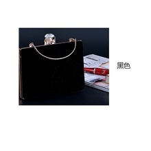 Women's Bags Velvet Evening Bag Crystals / Beading for Event / Party Black / Blue / Red / Wedding Bags Black