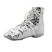 Girls' Dance Shoes Jazz Shoes Dance Boots Boots Flat Heel Silver Flat Heel,Silver,US11 / EU28 / UK10 Little Kids