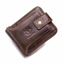 Men's Bags Cowhide Wallet 3 Pcs Purse Set Zipper for Daily Black / Brown / Coffee / Fall & Winter Black