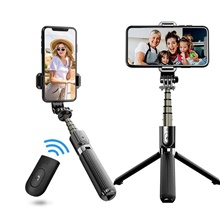 L03 Selfie Stick Wireless Bluetooth Selfie Tripod Foldable Handheld Monopod Tripod With Shutter Iphone Remote motion camera Black