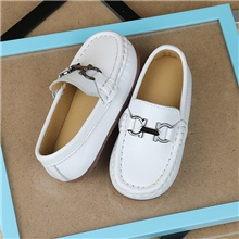 Boys' Loafers & Slip-Ons Moccasin Microfiber Little Kids(4-7ys) White / Black Summer White,US5.5 / EU21 / UK4.5 Toddle