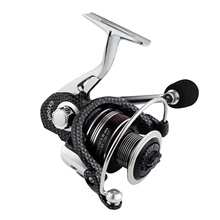 Fishing Reel Spinning Reel 5.0:1, 4.7:1 Gear Ratio+14 Ball Bearings Hand Orientation Exchangable Sea Fishing / Freshwater Fishing / Trolling & Boat Fishing Hand Orientation Exchangable,Black,1000