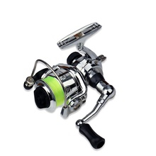 Fishing Reel Spinning Reel 4.3:1 Gear Ratio+3 Ball Bearings Hand Orientation Exchangable Sea Fishing / Freshwater Fishing / Trolling & Boat Fishing Hand Orientation Exchangable,Green