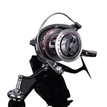 Fishing Reel Spinning Reel 4.7:1 Gear Ratio+11 Ball Bearings Hand Orientation Exchangable Sea Fishing / Freshwater Fishing / Trolling & Boat Fishing Hand Orientation Exchangable,Red,8000