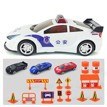 Toy Car Electric Toys Construction Truck Toys Police car Sports Car Music & Light Alloy Mini Car Vehicles Toys for Party Favor or Kids Birthday Gift 1+3 pcs / Kid's White