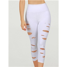 Women's Basic Legging - Solid Colored, Print Mid Waist White XS S M White,XS