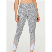 Women's Basic Legging - Color Block, Print Mid Waist Gray XS S M Gray,XS