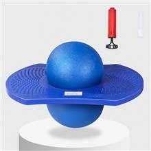 Pogo Ball Jump Trick Bounce Board Plastic Balance With Pump Sports Outdoor Kid's Adults Party Favors  for Kid's Gifts Blue