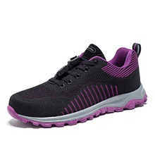 Women's Trainers / Athletic Shoes Flat Heel Round Toe Outdoor Lace-up Tissage Volant Fitness & Cross Training Shoes Black / Burgundy Black,US5 / EU35 / UK3 / CN34