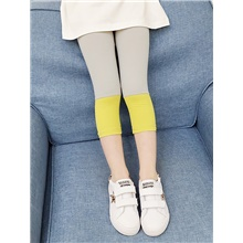 Kids Girls' Basic Solid Colored Leggings Yellow Yellow,3-4 Years(110cm)