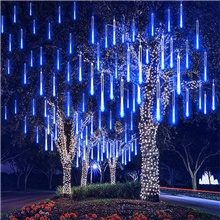 50cm 100-240V Outdoor Meteor Shower Rain 32 Tubes 960LED String Lights Waterproof For Christmas Wedding Party Decorationfor Christmas Trees Halloween Decoration Holiday Wedding Warm White,AC100-240V,EU Plug