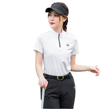 Women's 1 Piece Golf Polos Shirt Fashion Breathable Quick Dry Soft Summer Athleisure Outdoor / Short Sleeve / Micro-elastic White,S