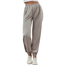 Women's Basic Daily Chinos Sweatpants Pants - Solid Colored Sports Gray S / M / L Gray,S