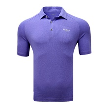 Men's 1 Piece Golf Polo Shirts Solid Color Breathable Quick Dry Soft Summer Athleisure Outdoor / Velvet / Short Sleeve / Micro-elastic Purple,M