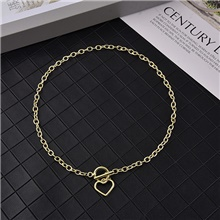Men's Women's Pendant Necklace Necklace Classic Heart Punk Gothic Korean Fashion Alloy Gold Silver 40 cm Necklace Jewelry For Party Evening Sport Prom Street Birthday Party / Charm Necklace Gold