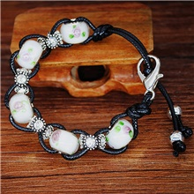 Women's Chain Bracelet Bead Bracelet Beads Fashion Luxury Trendy Fashion Stone Bracelet Jewelry White / Blue / Red For Gift Date Beach Festival / Imitation Diamond White
