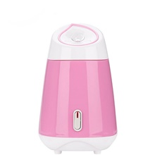 Face Steamer Portable Nano Humidifier Face Sprayer Mist Atomization Moisturizing Sprayer USB Charging Maquina de Facial EU Adapter,Blushing Pink