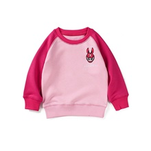 Kids Girls' Basic Color Block Long Sleeve Hoodie & Sweatshirt Blushing Pink Blushing Pink,3-4 Years(110cm)