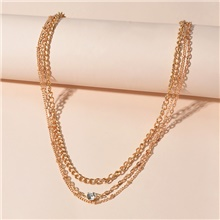 Women's Layered Necklace Stacking Stackable Fashion Alloy Gold 39 cm Necklace Jewelry For Birthday Party Festival Gold