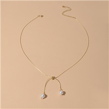 Women's Chain Necklace Fashion Imitation Pearl Alloy Gold 49 cm Necklace Jewelry 1pc For Birthday Party Festival Gold