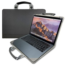 Sleeves Solid Colored PU Leather Genuine Leather Foldable Laptop Case for MacBook Black,12'