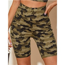 Women's Basic Daily Shorts Pants - Camouflage Sports Army Green S / M / L Army Green,S