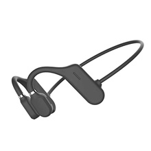LITBest DYY-1 Bone Conduction Earphone Bluetooth5.0 Stereo Open Ended Design Headphone Sweatproof Waterproof 6D Surround Directional Sound Field Headset For Sport Black