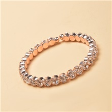 Women's Clear Cubic Zirconia Cuff Bracelet Tennis Bracelet Tennis Chain Gypsophila Lucky Trendy Casual / Sporty Korean Fashion Ancient Rome Copper Bracelet Jewelry Rose Gold / Gold / Silver For Party Rose Gold,1 pc,25cm