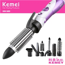 KEMEI 7 In 1 Multifunctional Hair Dryer Professional Hairdryer Brush Hair Blower with Difusser Hair Style Tools 220-240v EU Adapter