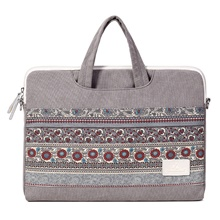 15.6 Inch Laptop / 14 Inch Laptop / 13 Inch Laptop Sleeve / Shoulder Messenger Bag / Briefcase Handbags Polyester Floral Print Unisex Waterpoof Shock Proof Light gray,13.3 inch