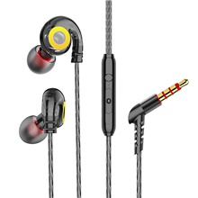 Sport Earphone Wired Super Bass 3.5mm Headset Earbud with Microphone Hands Free for Xiaomi Black
