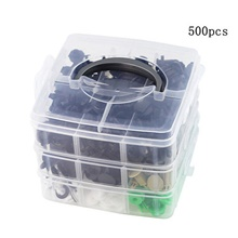 500pcs Bumper Retainer Clips Car Plastic Rivets Fasteners Push Retainer Kit Most Popular Sizes Auto Push Pin Rivets Set -Door Trim Panel Fender Clips for GM Ford Toyota Honda Chrysle