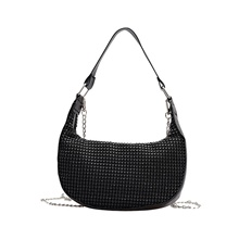 Women's Bags Crossbody Bag Crystals / Chain for Daily / Going out Black / Silver / Fall & Winter Black