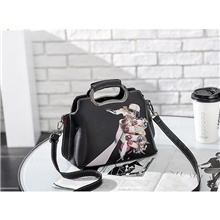 Women's Bags PU Leather / Polyester Crossbody Bag Pattern / Print for Date / Going out Black Grey / White / Black / Fall & Winter Black Grey